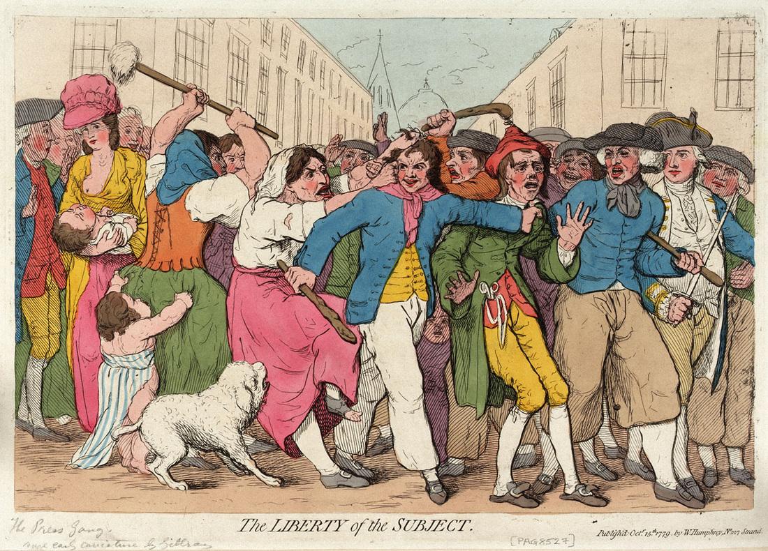 Przymusowa randka z marynarzem – Press-Gangi w XIX-wiecznej Anglii