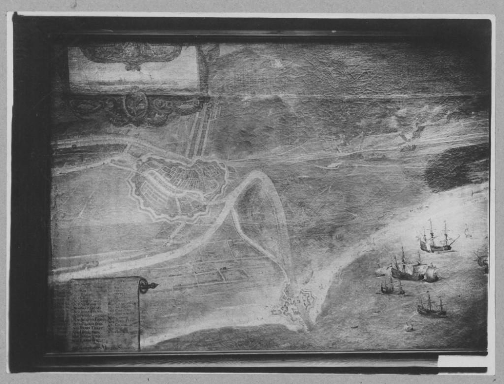B. Milwitz. fragm. Bitwa pod Oliwą, obraz zrabowany w czasie drugiej wojny światowej z Pałacu Opatów w Gdańsku Oliwie. (ze zb. Bibl. PAN)