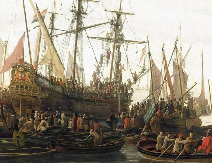Egzekucje, wieszanie na rei, czy przeciąganie pod stępką były karami, które umyślnie przeprowadzano publicznie – ich widok miał odstraszyć potencjalnych następców oskarżonego. (fragment obrazu Het kielhalen, Lieve Pietersz. Verschuier , Rijksmuseum Amsterdam )