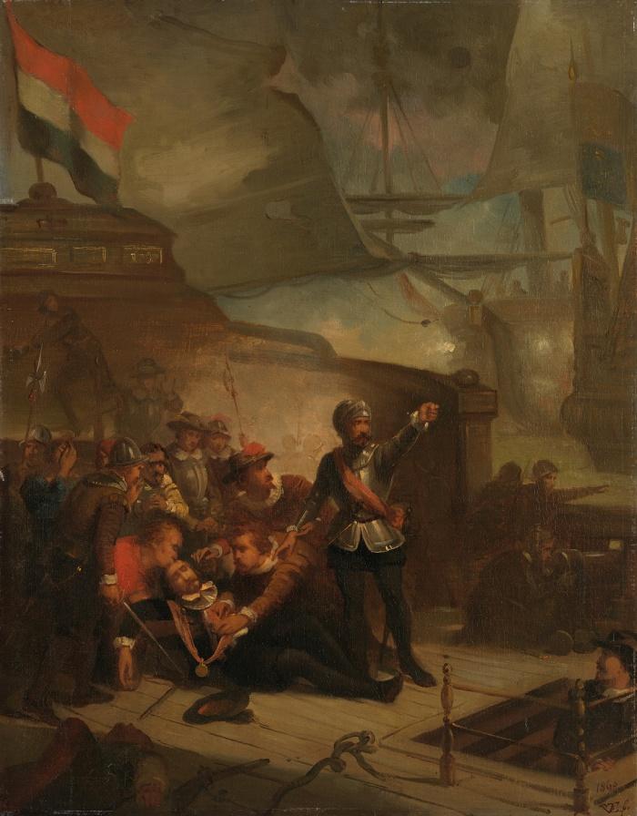 Paul Tetar van Elven, Anno 1653 Maarten Harpertszoon Tromp poległ, 1860