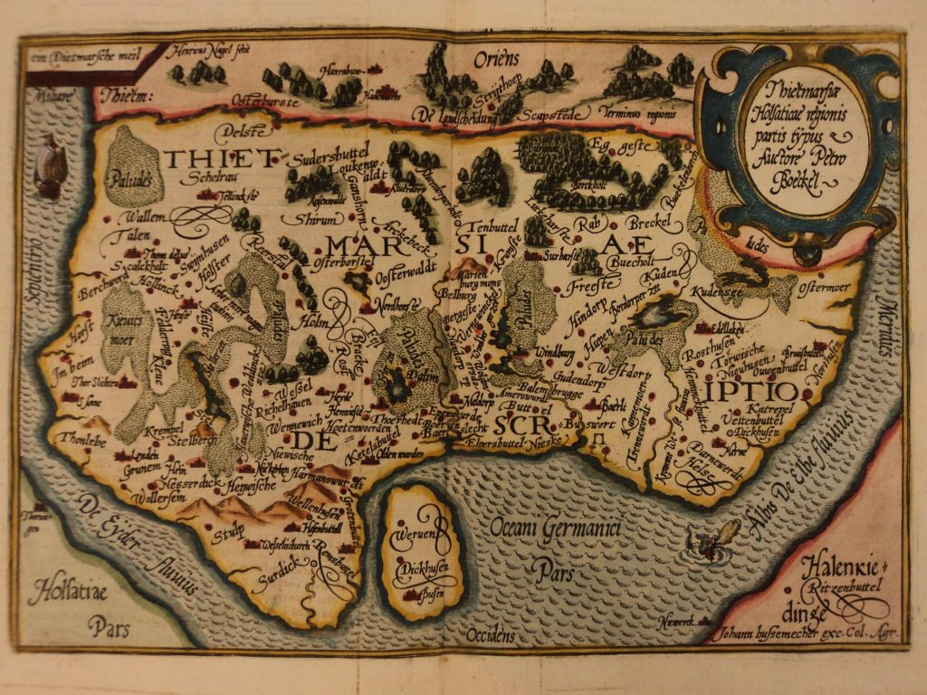 Mapa Dithmarschen